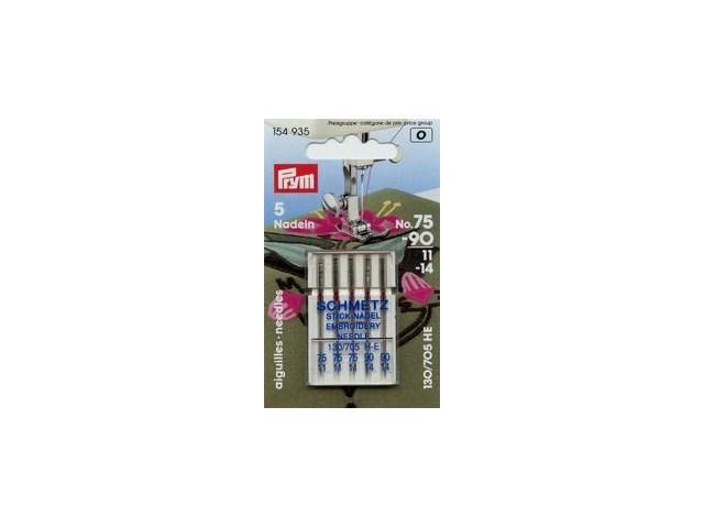 Prym Nähmaschinennadeln 130/705  Sticken 75+90  5