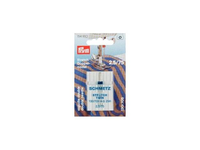 Prym Doppel-Nähmaschinennadel     130/705 Stretch 75/2,5 mm  1