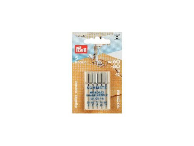 Prym Nähmaschinennadeln 130/705   Microtex 60-80  5