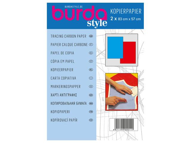 Kopierpapier blau/rot 83cm x 57 cm
