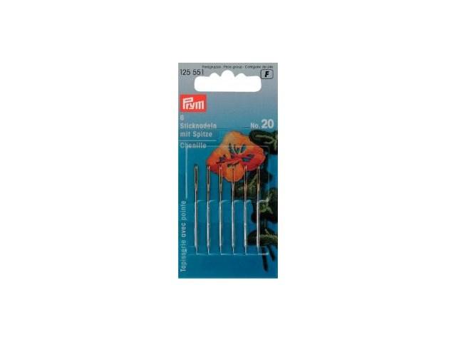 Prym Sticknadeln mit Sp. ST 20 1,00 x 43 mm silber-/goldfarbig