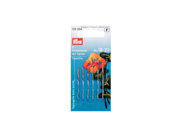 Prym Sticknadeln mit Sp. ST 18-22 silberfarbig/goldfarbig