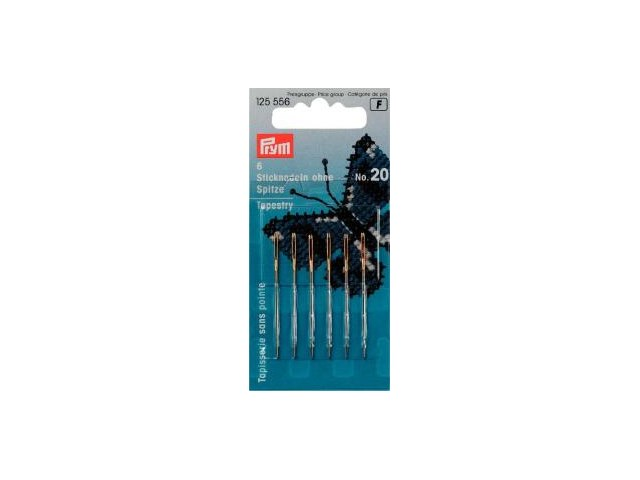 Prym Sticknadeln ohne Sp. ST 20 1,00 x 43 mm silber-/goldfarbig