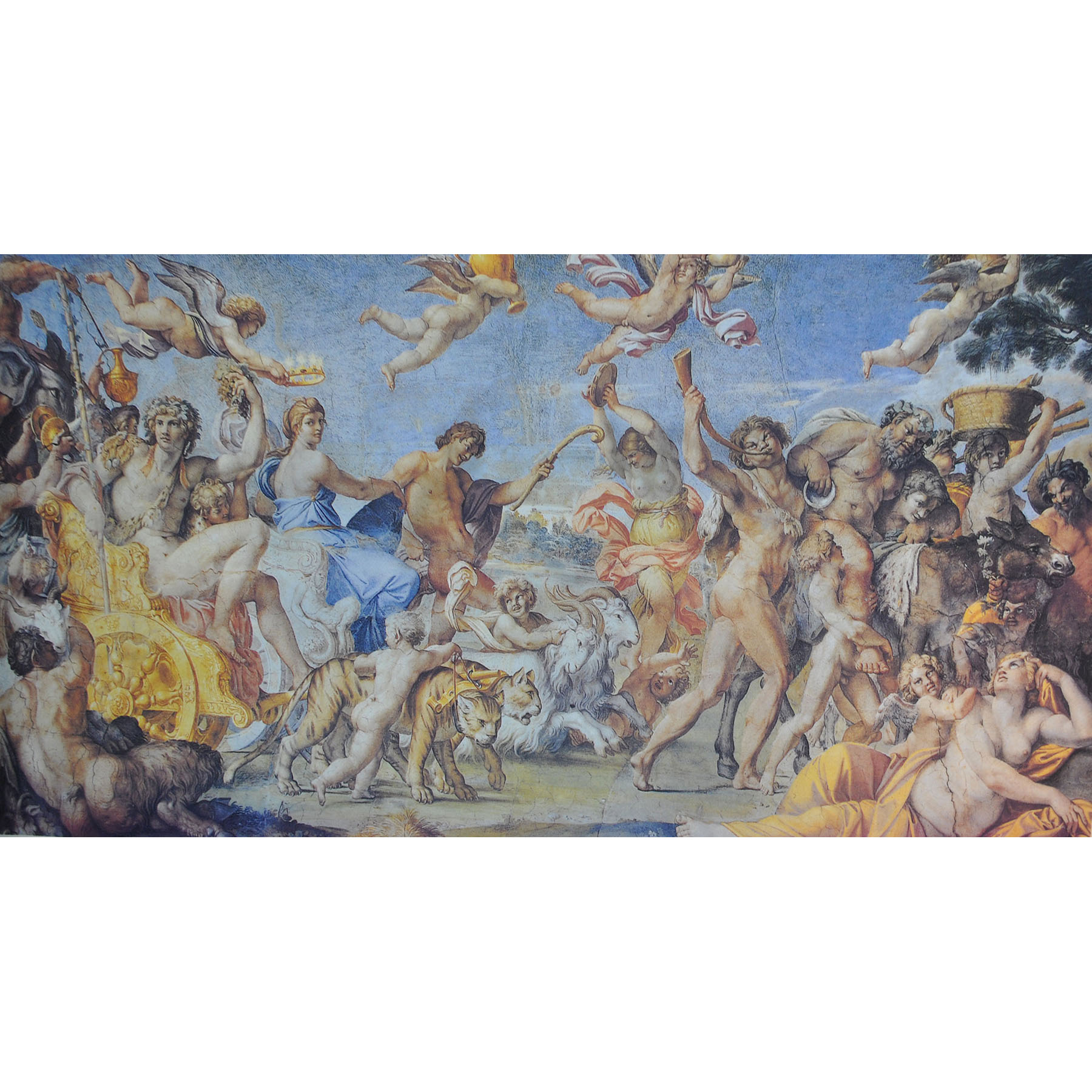 Maler Panneaux 151,5 x 71,5 cm -  Deckenmalerei Renaissance