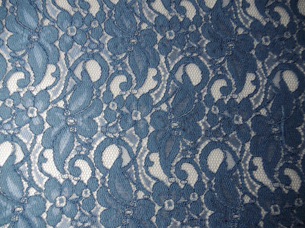 Viskose-Spitze stahlblau