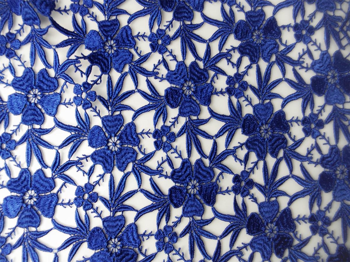 Guipure Spitze königsblau