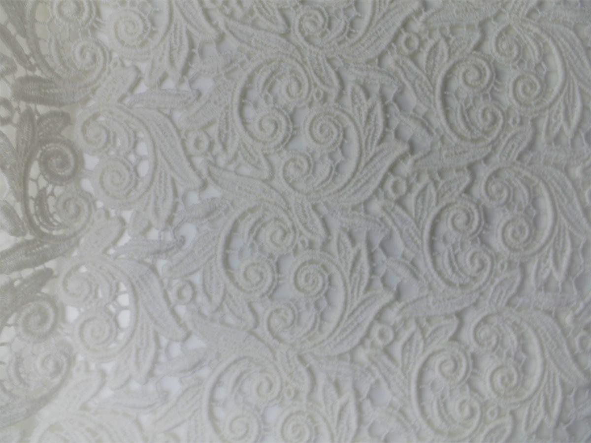 Baumwoll Spitze Guipure-Art ivory