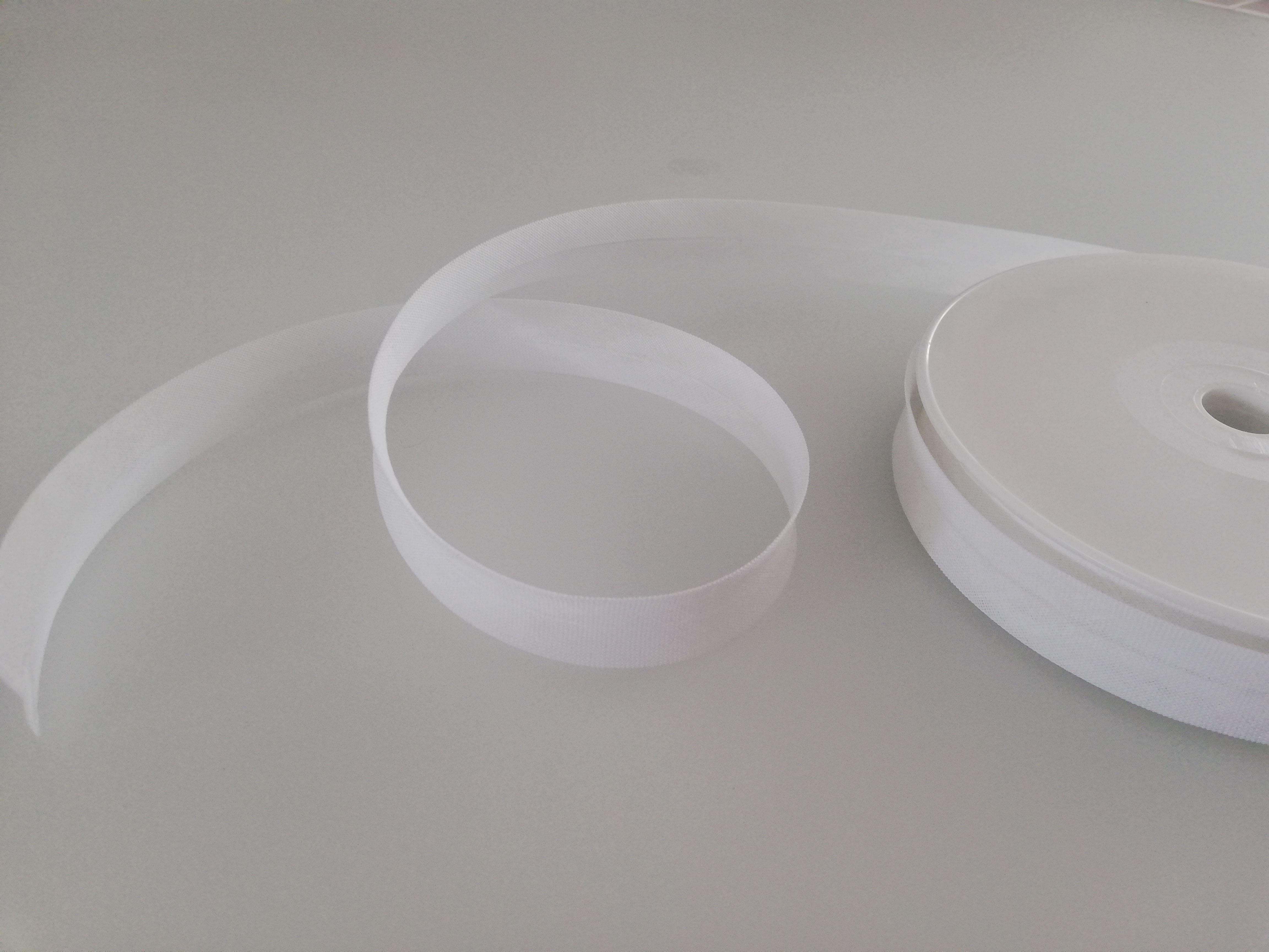 Schrägband Baumwolle - 25m weiß