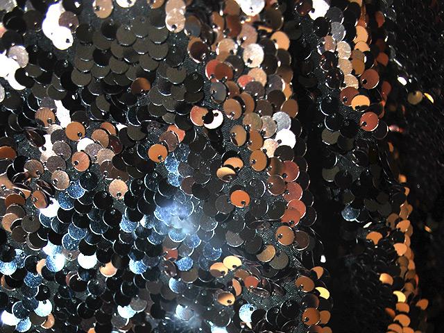 Streichel-Pailletten  Kupfer-Black