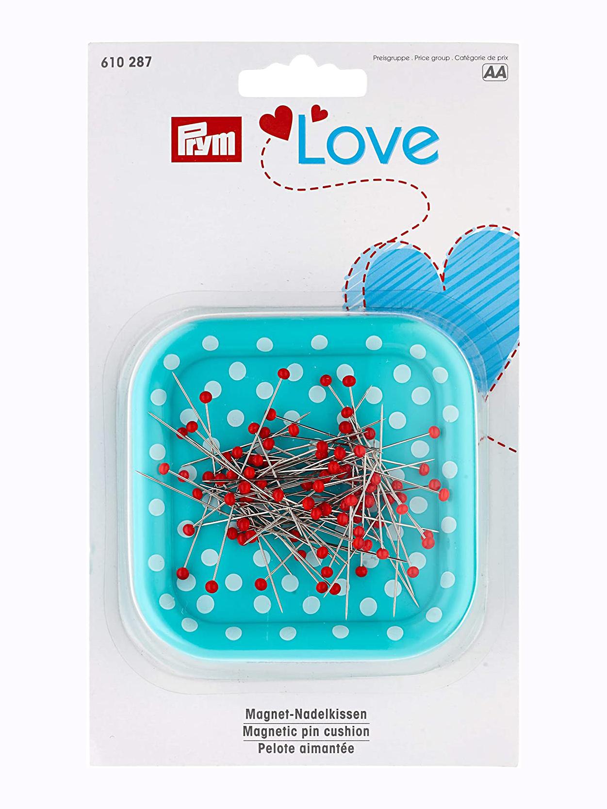 Prym Love Magnetnadelkissen m. Glaskopfstecknadeln