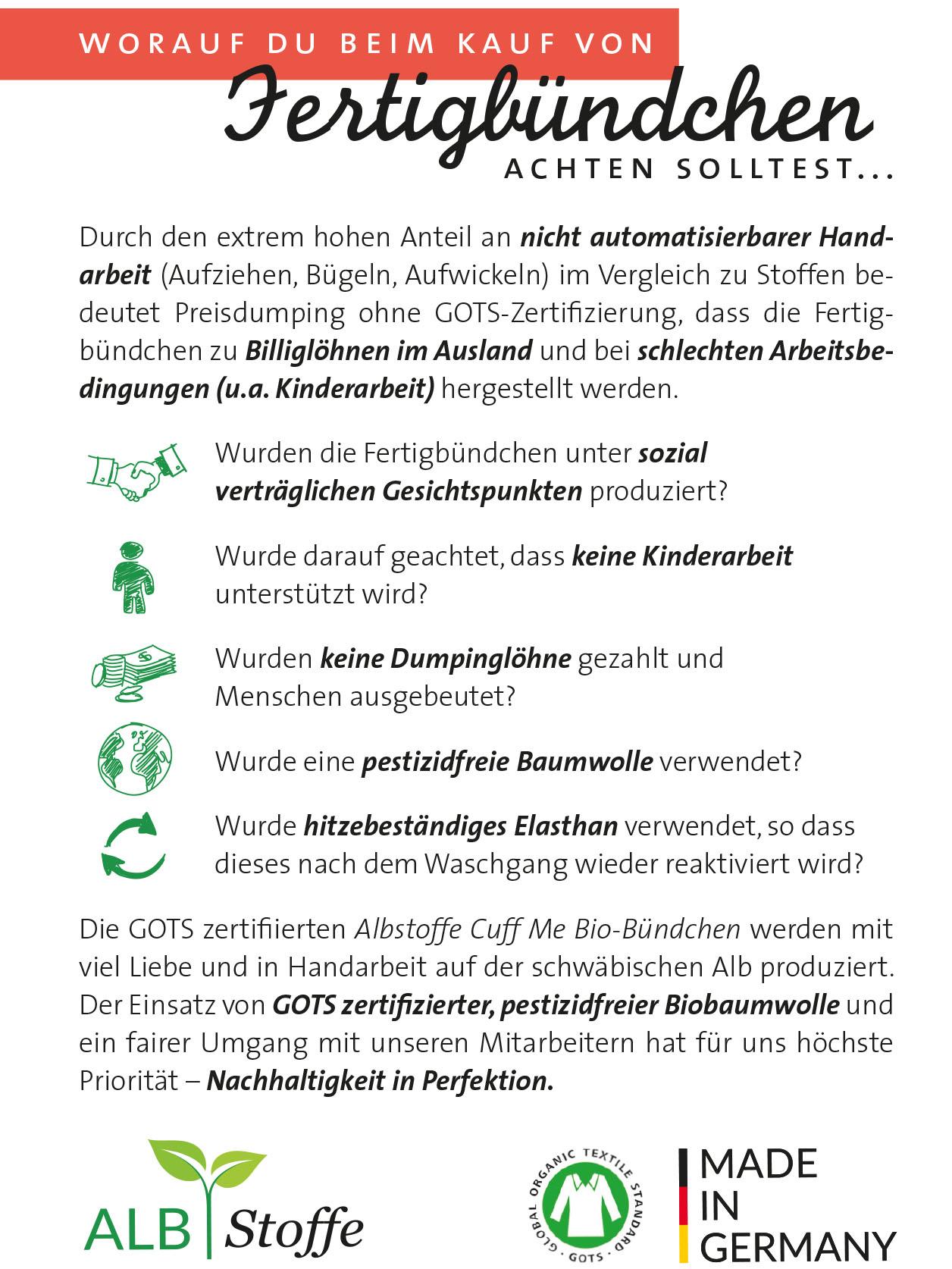 CUFF ME Bündchen BIO-Baumwolle GLAM Edition