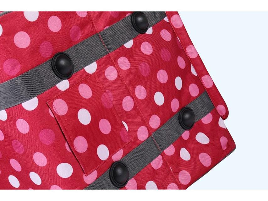 Overlocktasche dotty rosa XL Carry Bag 44 x 37 x 41cm